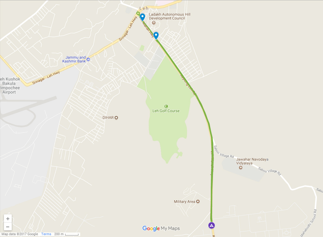 7 km route