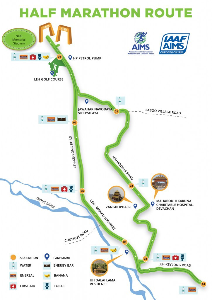 Half-Marathon route map 2019